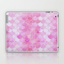 Pink Pearlescent Mermaid Scales Pattern Laptop & iPad Skin