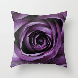 Purple Rose Decorative Flower Throw Pillow