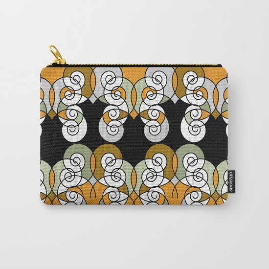 Abstraction . Yellow black spiral. Carry-All Pouch