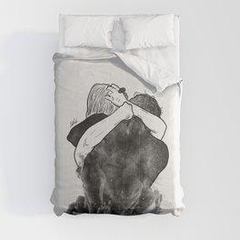 Impressive hug. Comforters