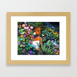 Garden Hideaway Framed Art Print