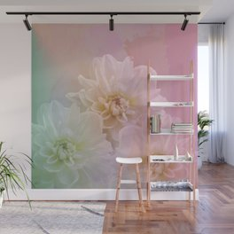 Painterly pastel flowers Wall Mural