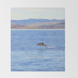 Porpoise in Pursuit Throw Blanket