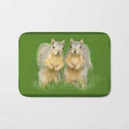 Squirrels-Brothers Bath Mat