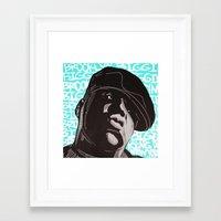 biggie smalls Framed Art Prints featuring Biggie Smalls by Art By Ariel Cruz