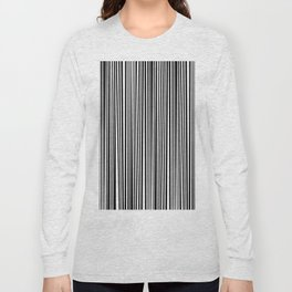Simply small black and white handrawn stripes - vertical - Mix & Match with Simplicty of life Long Sleeve T-shirt