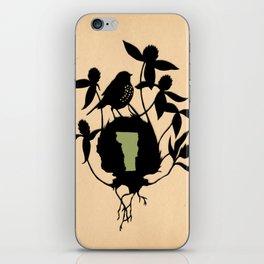 Vermont - State Papercut Print iPhone Skin