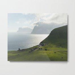 Faroe Islands Landscape Metal Print