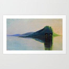 Serenity, Peace, & Quiet of the Early Morning Island landscape by Mikalojus Konstantinas Ciurlionis Art Print