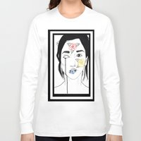 murakami Long Sleeve T-shirts featuring Norwegian Wood by Primary Color