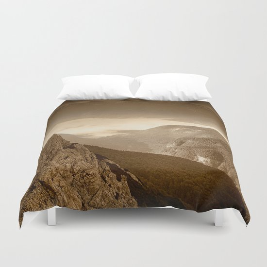 Afternoon Walk in the Hills Duvet Cover