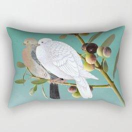 Doves in Olive Tree Rectangular Pillow