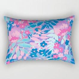 Pastel Watercolor Flowers Rectangular Pillow