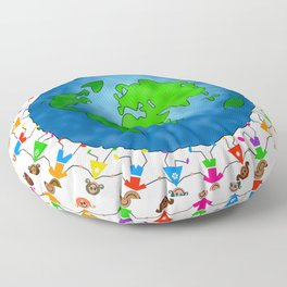 Happy World Kids Floor Pillow