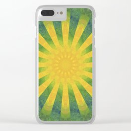 yellow rays Clear iPhone Case