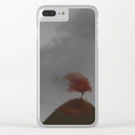 Standing Strong in a Fall Wind Clear iPhone Case