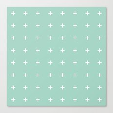 Mint Cross // Mint Plus ///www.pencilmeinstationery.com Canvas Print