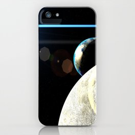 Moon Earth iPhone Case