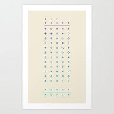 ALL STARS + BONUS Art Print