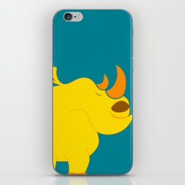 Happy rhino iPhone Skin