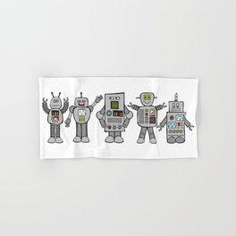 Retro Robots Hand & Bath Towel