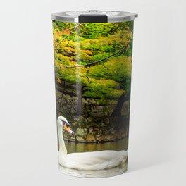 Autumn Swan Lake Travel Mug