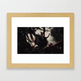 Sister Rivalry Framed Art Print