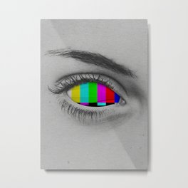 TV Eye Metal Print