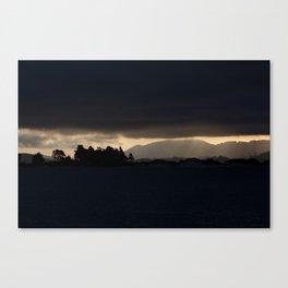 Dunedin Silhouette  Canvas Print