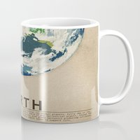 earth Mugs featuring Earth by Heather Landis