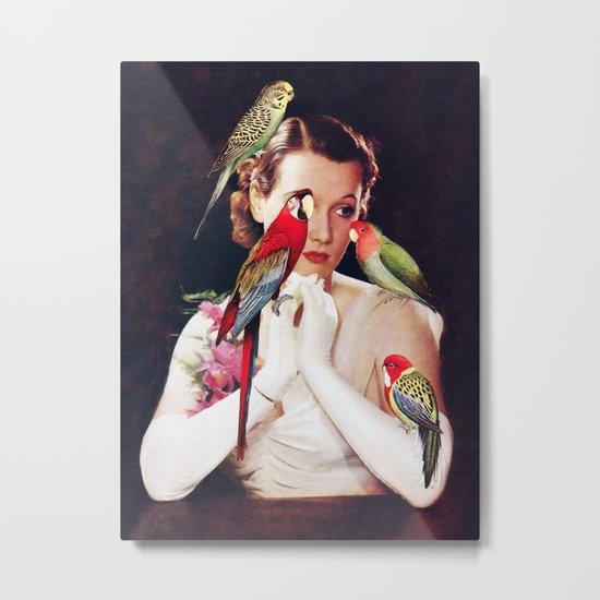 Bird Lady Metal Print
