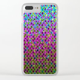 Polka Dot Sparkley Jewels G377 Clear iPhone Case