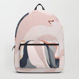 Elegant Zen Marbled Effect Design Backpack