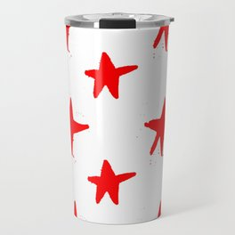 Red stars Travel Mug