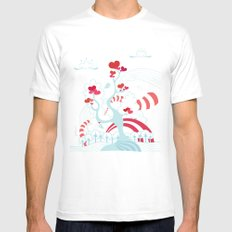 Love Tree White SMALL Mens Fitted Tee