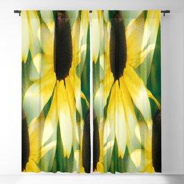 Vibrant Yellow Coneflower Blackout Curtain