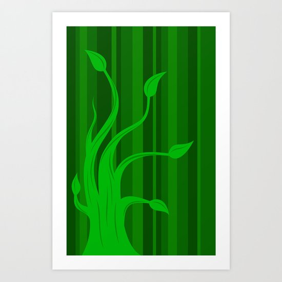 green tree 2 Art Print