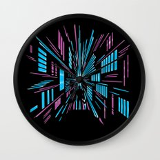 Tunnel to the Stars Wall Clock