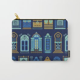 Moroccan Doors – Navy Palette Carry-All Pouch