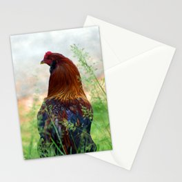 The Hen - Glance Back 730 Stationery Cards
