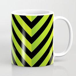 Chevron or herringbone pattern on green and black Coffee Mug