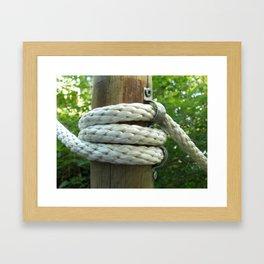 Close-up of Bundles of rope Framed Art Print