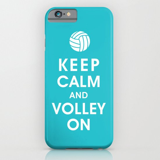 Keep Calm and Volley On (For the Love of Volley Ball) iPhone & iPod Case