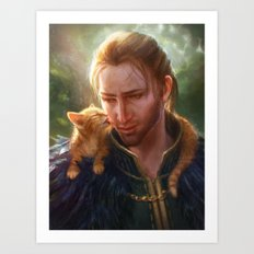 Anders and Ser Pounce-a-Lot Art Print