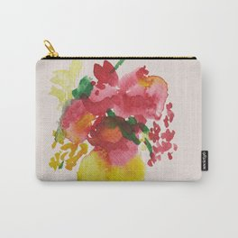 Yellow Vase Red Bouquet Carry-All Pouch