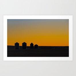 Silo Silhouette Art Print