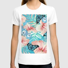 Tropical Spring Aqua T-shirt