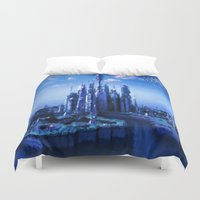 stargate Duvet Covers featuring The lost city by Samy