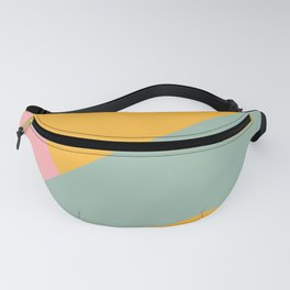 Beam Out - Mustard Yellow, Robin's Egg, and Pale Pink Fanny Pack