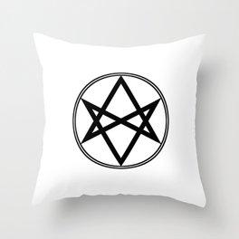 Men of Letters Symbol Black Throw Pillow